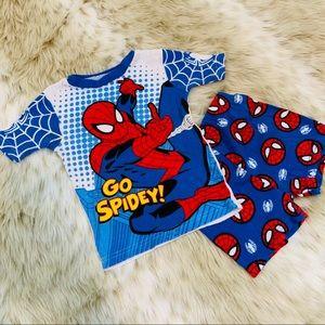 Spider-Man Sleeping Top and Shorts